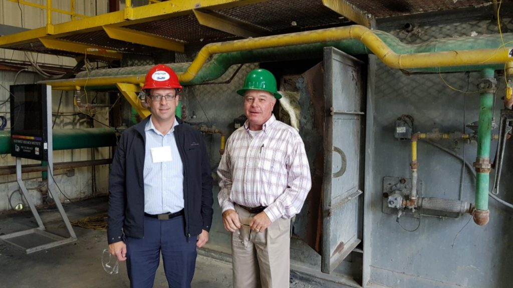 Hamish McLean from Fuelchief and Bill from SwRI at the SuperVault testing facility